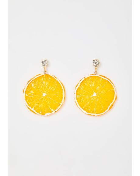 Orange You Glad Drop Earrings