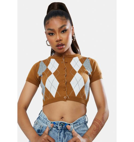 She's The Truth Argyle Crop Top