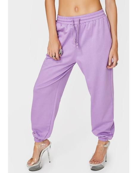 Purple Ava Track Pants