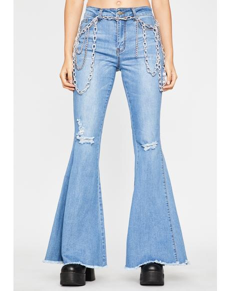 Groovy Ride Denim Flares