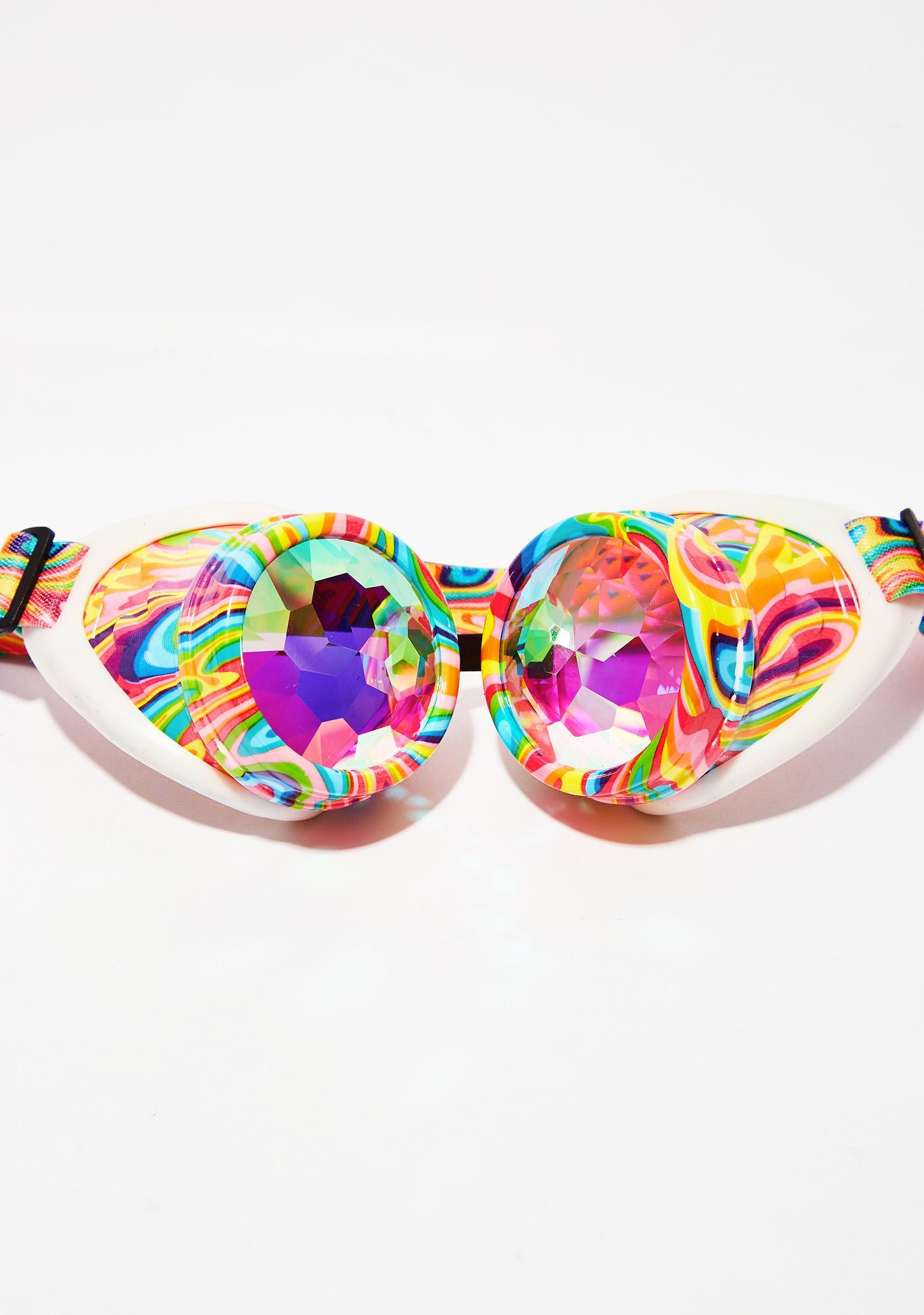GloFX Kandi Swirl Kaleidoscope Goggles