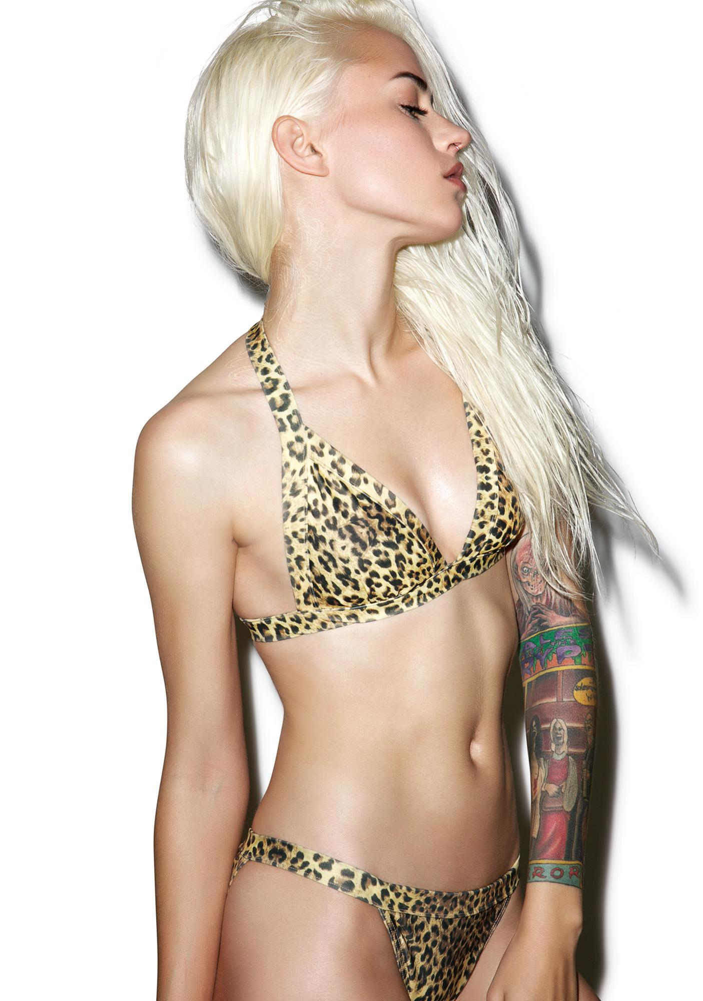 Current Mood Baesic Leopard Bikini Top