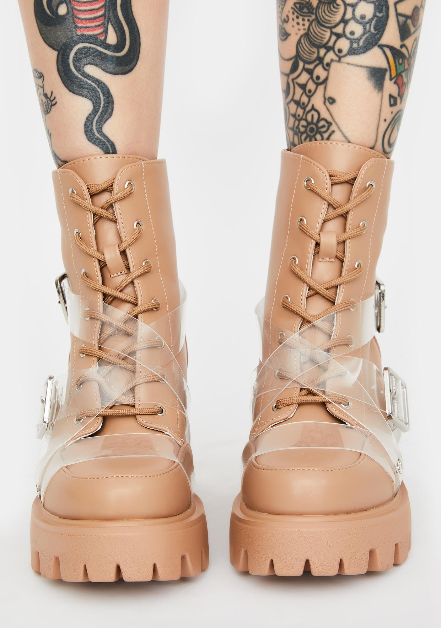 Influencer Status Combat Boots