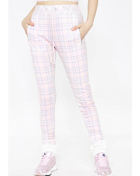 Pastel Plaid Demi Leggings