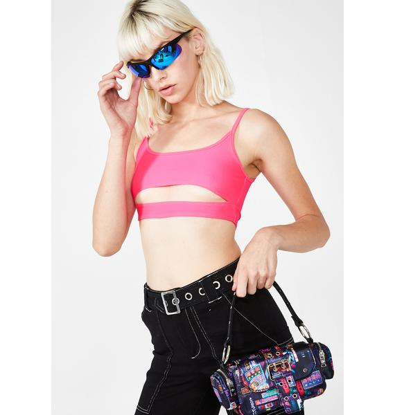 Motel Sweet Mish Cut Out Crop Top