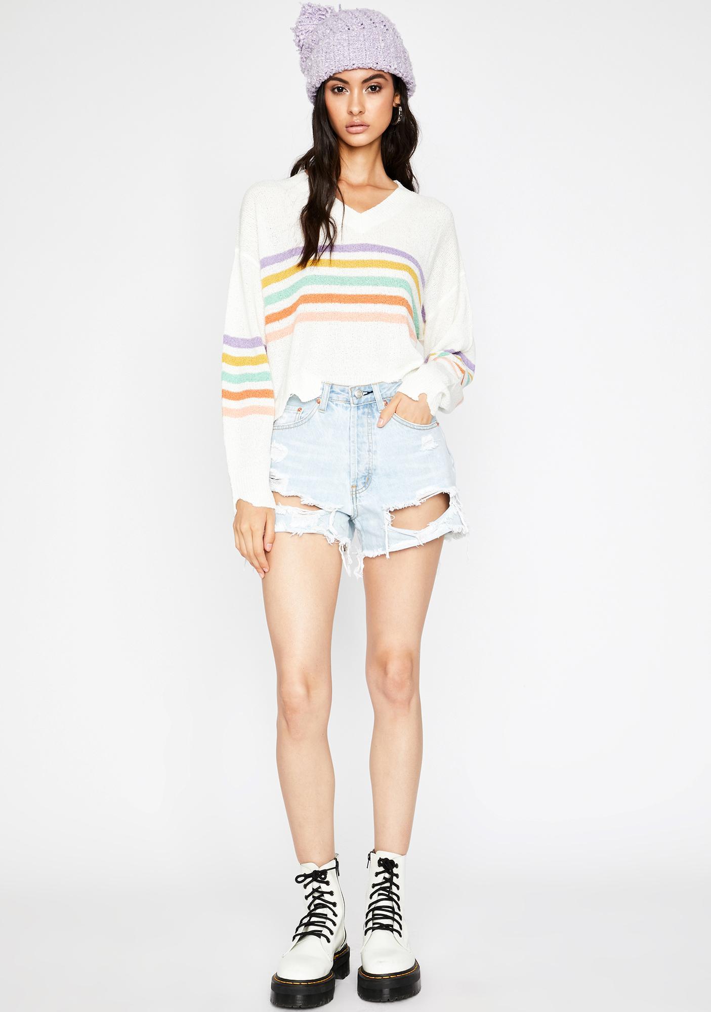 Snuggle Bae Striped Sweater