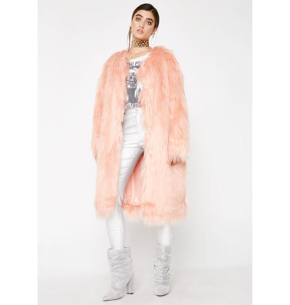 Blushin' Fur Life Long Coat