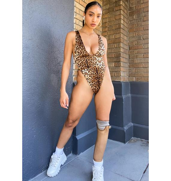 Ebonie N Ivory Leopard Deep V Bodysuit