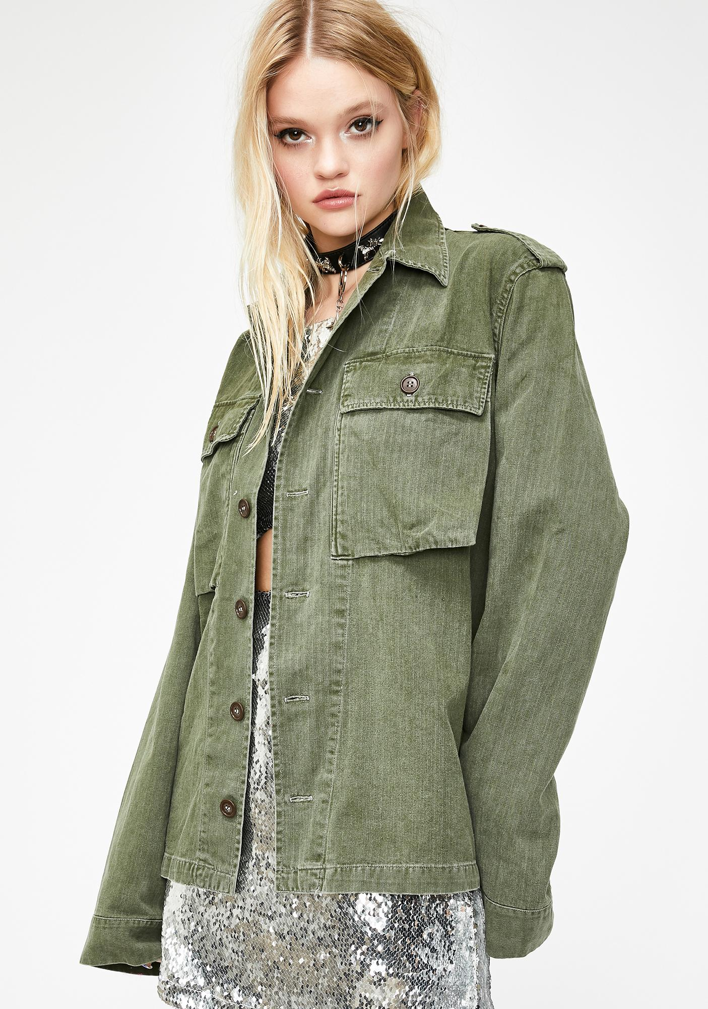 Current Mood Lovestruck Army Jacket
