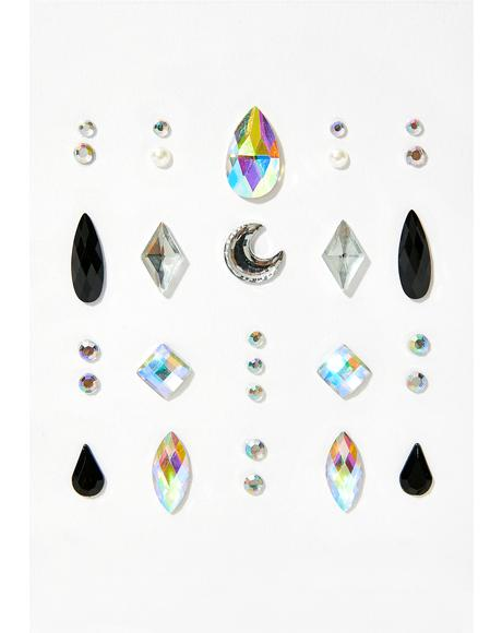 Cosmic Rain Face Gems
