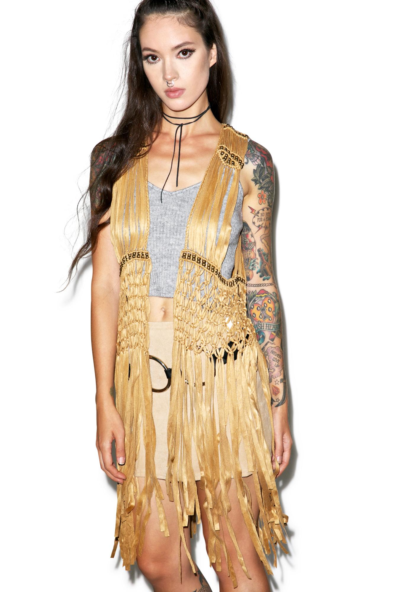 Glamorous Coming 2 America Fringe Vest