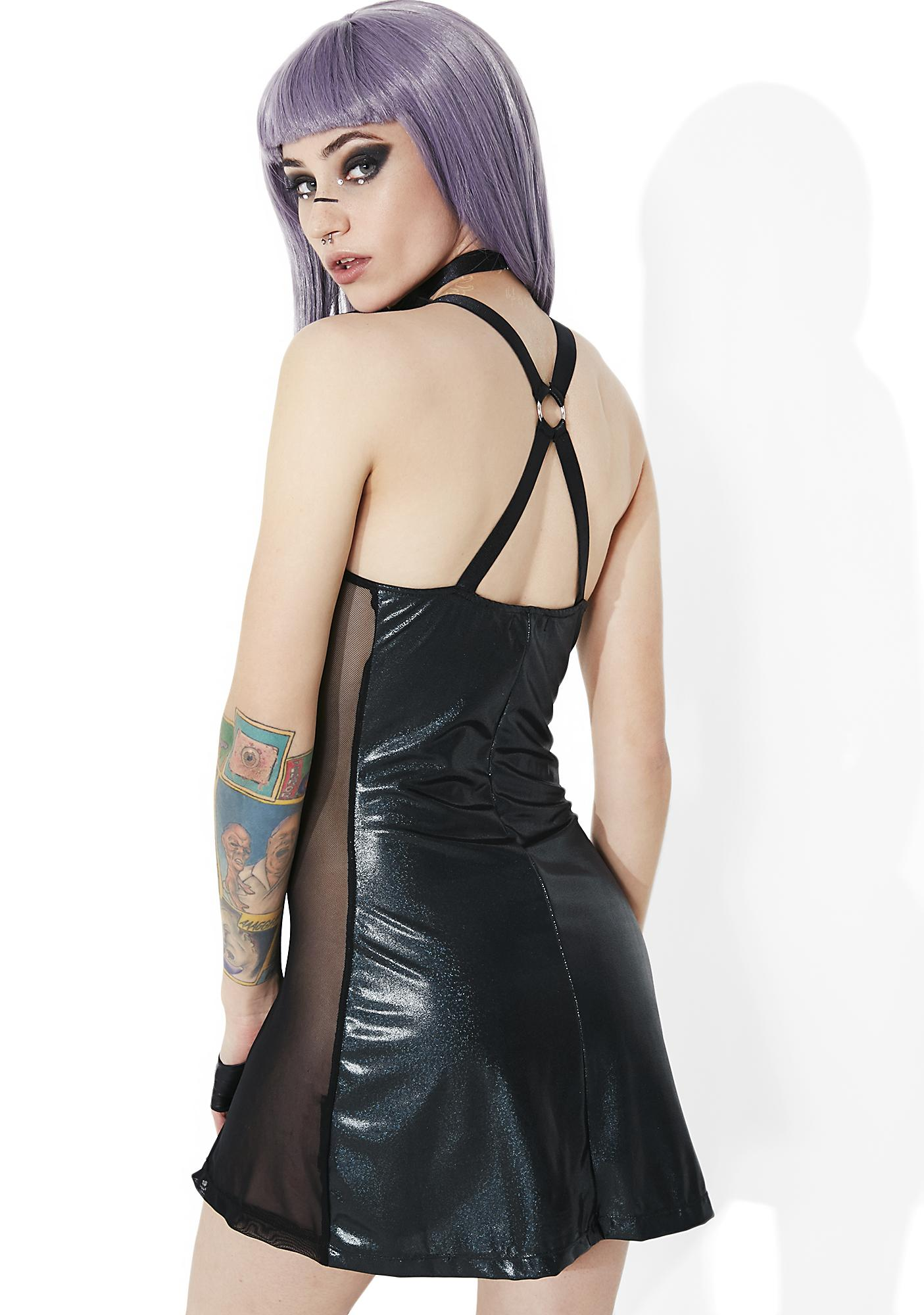 Club Exx Shadow Trance Choker Mini Dress