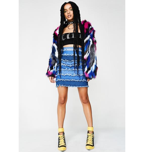 Sicko Cartel Kenya Denim Layer Skirt