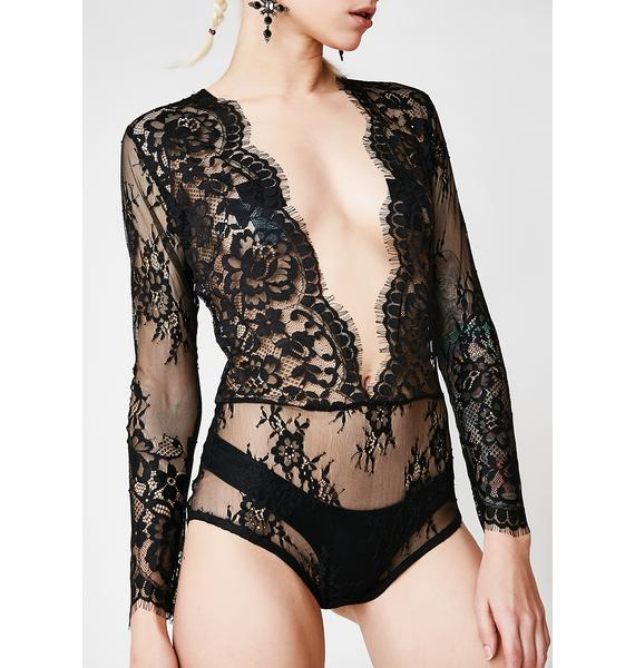 Wayward Lullaby Sheer Lace Bodysuit