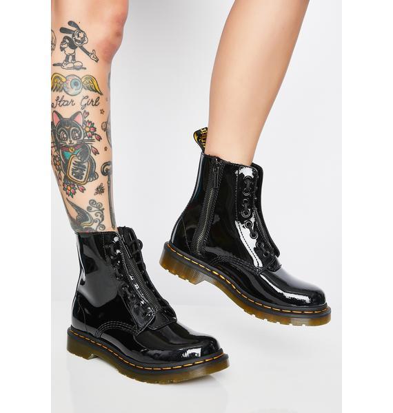 Dr. Martens 1460 Pascal Front Zip Patent Boots