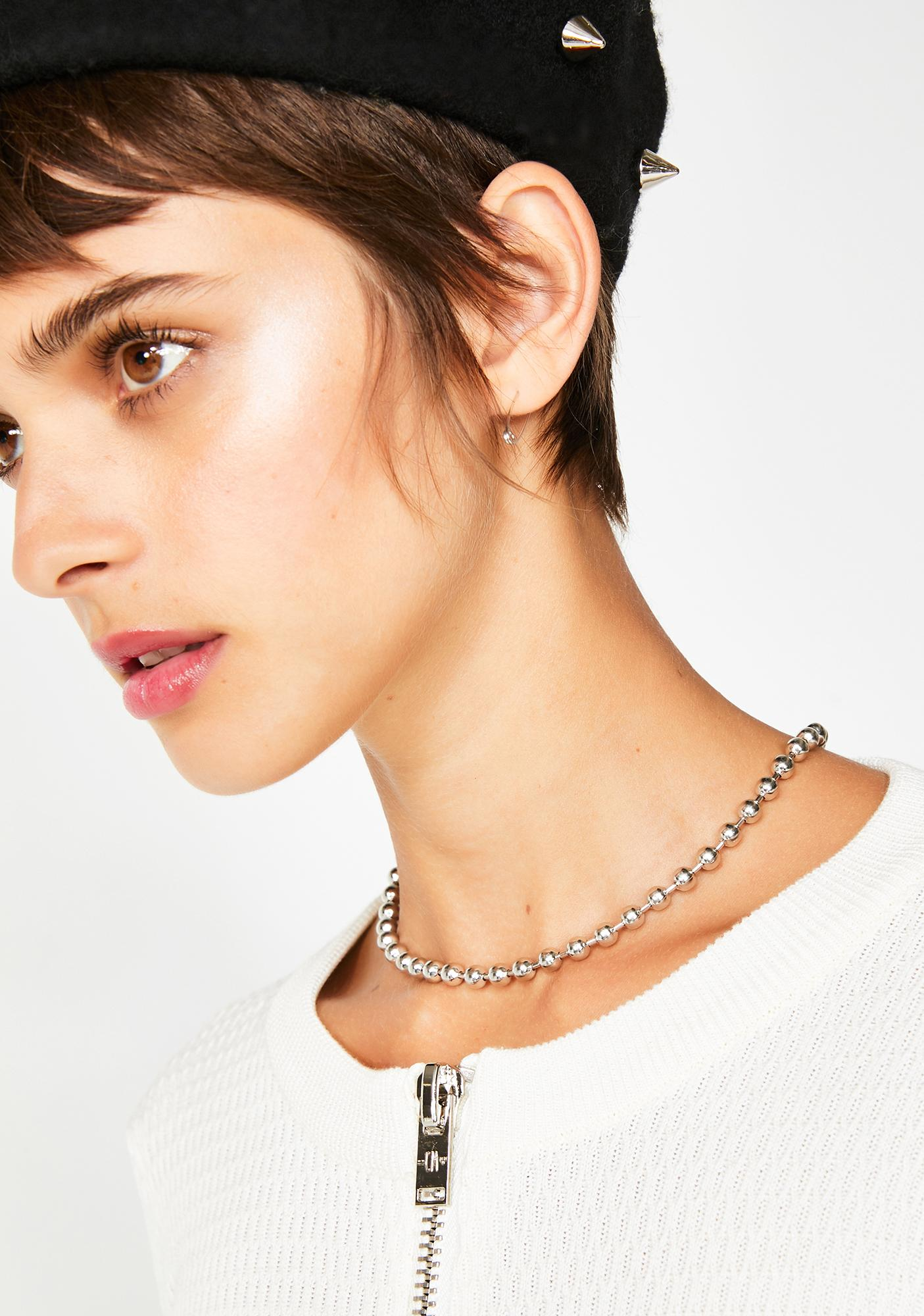 Small Talk Ball Chain Necklace