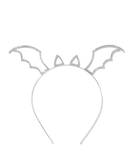 Night Flyer Rhinestone Wing Headband