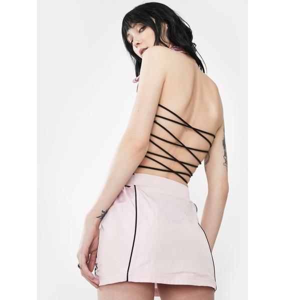 GRIMEY Urmah Dojo Zip Up Mini Skirt