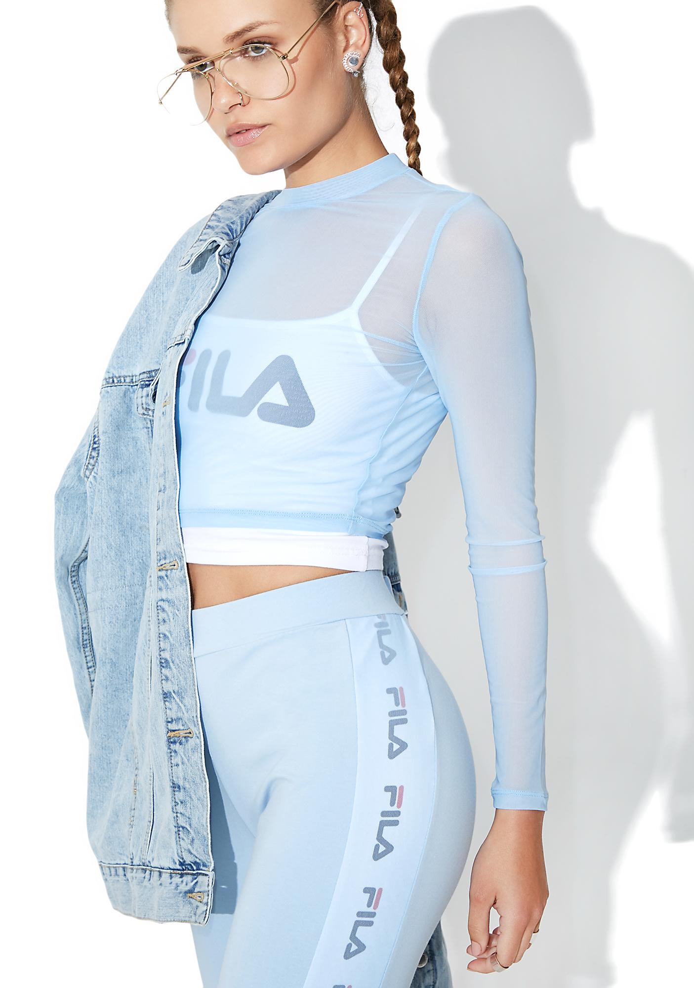 Fila Rachelle Sheer Cropped Top