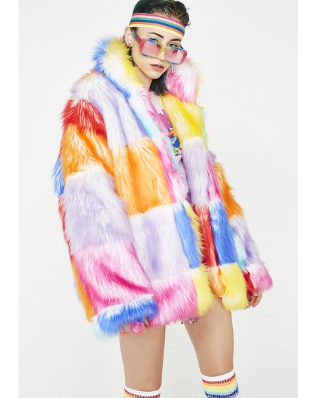 Buttercream Dream Furry Coat