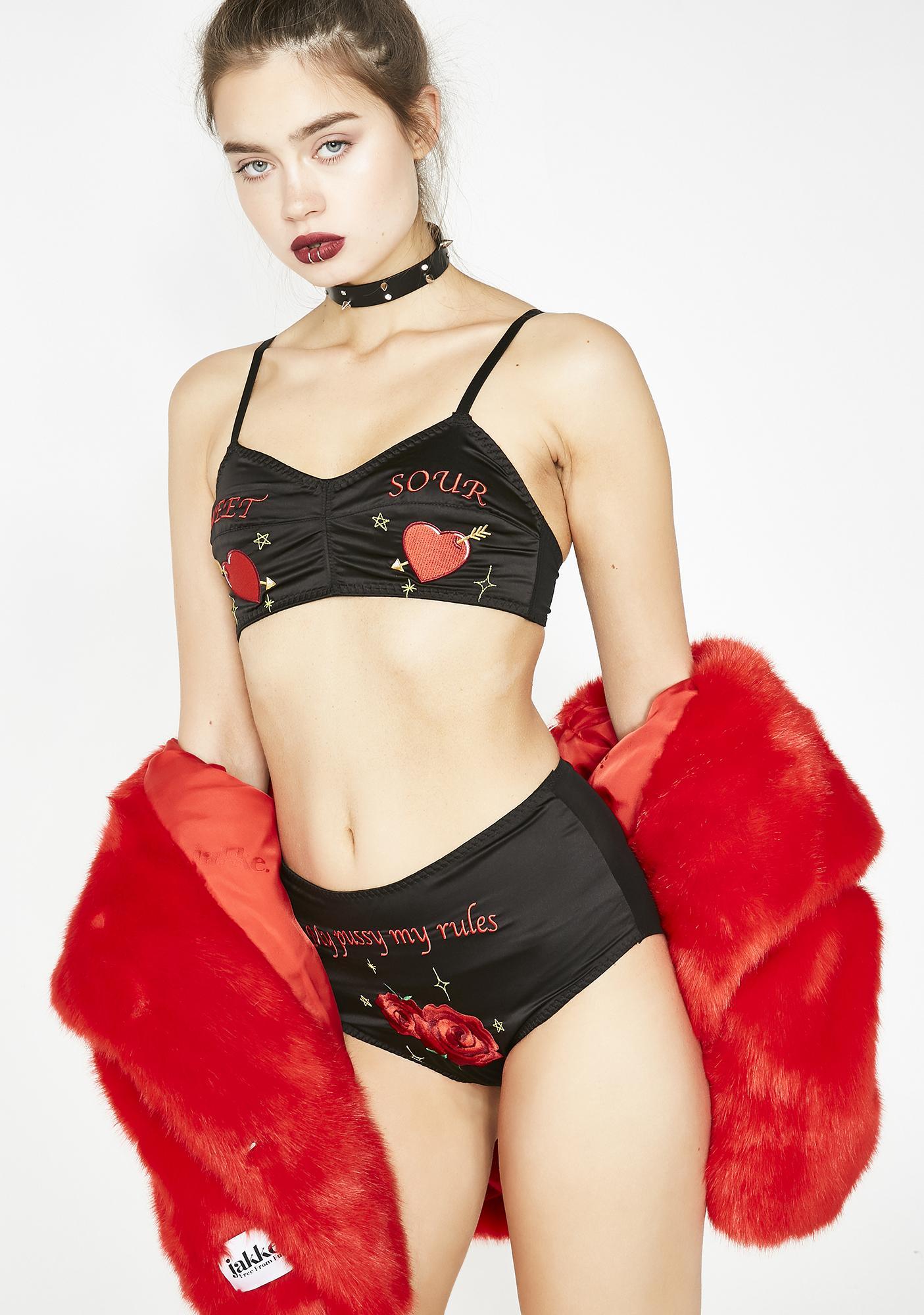 Sassy Bettie Embroidered Panties