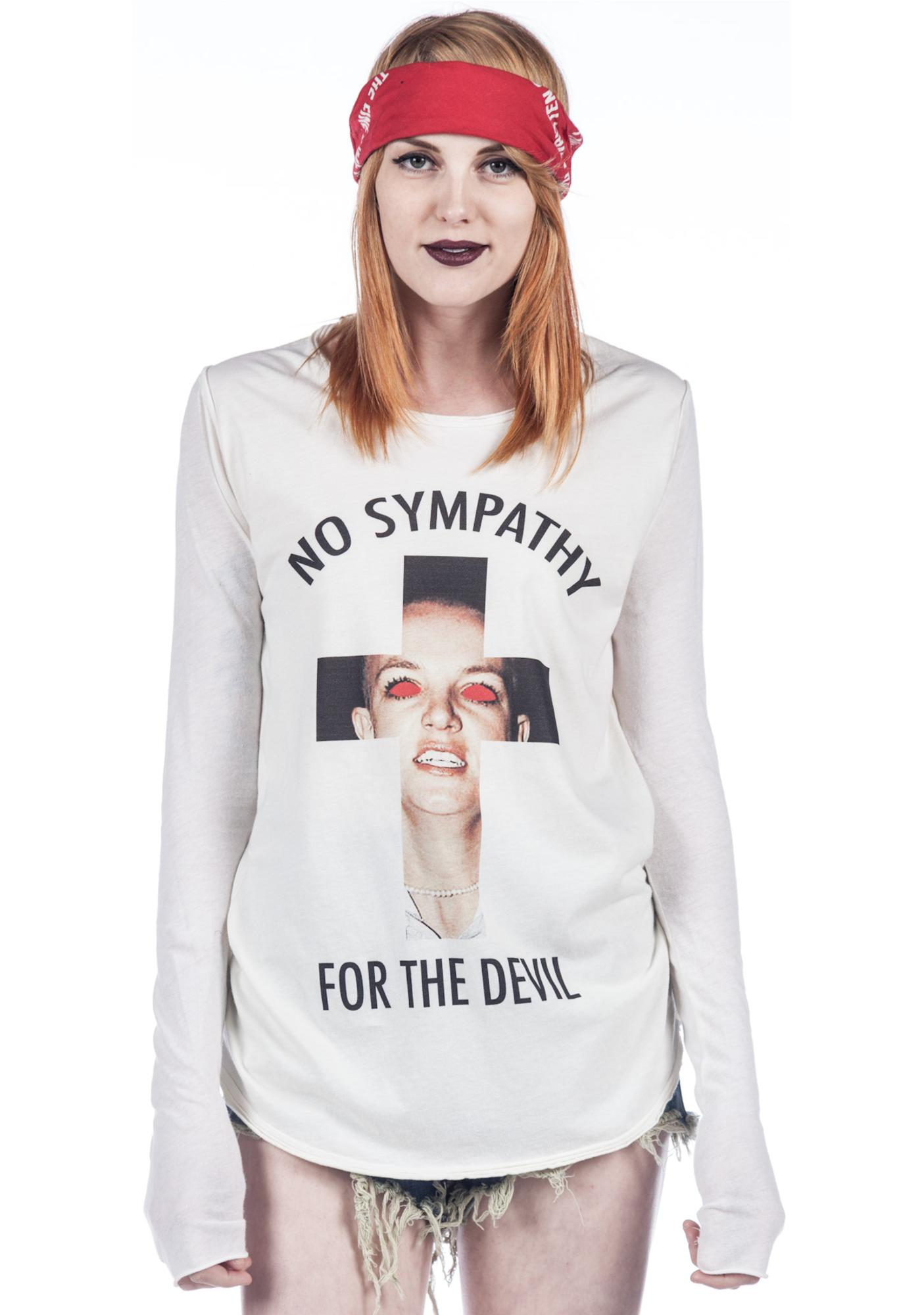 Blood Is The New Black No Sympathy for the Devil Long Sleeve Tee