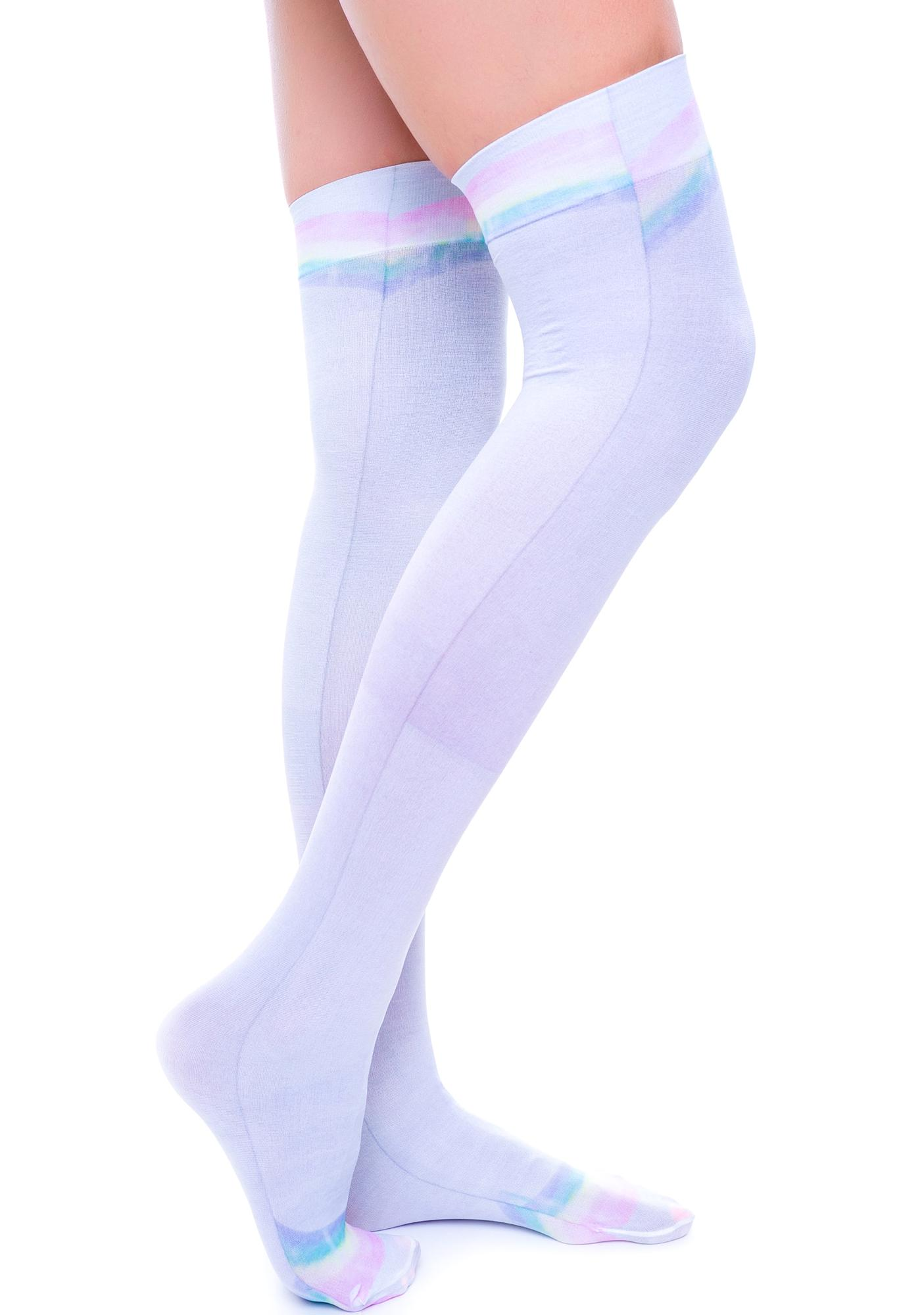 Private Arts Rainbow Thigh High Sox