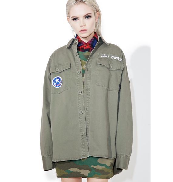 Jac Vanek Don't Be A Dick Army Jacket