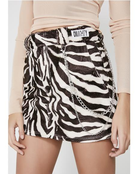 Zebra Chain Skirt