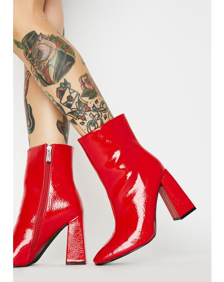 Spicy Rude Attitude Ankle Boots