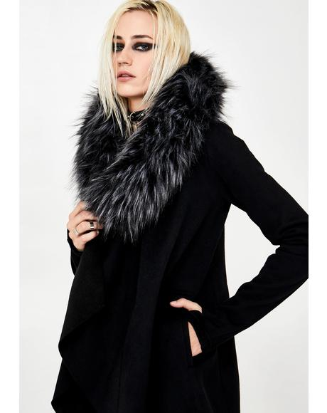 Blurry Nightfall Faux Fur Jacket