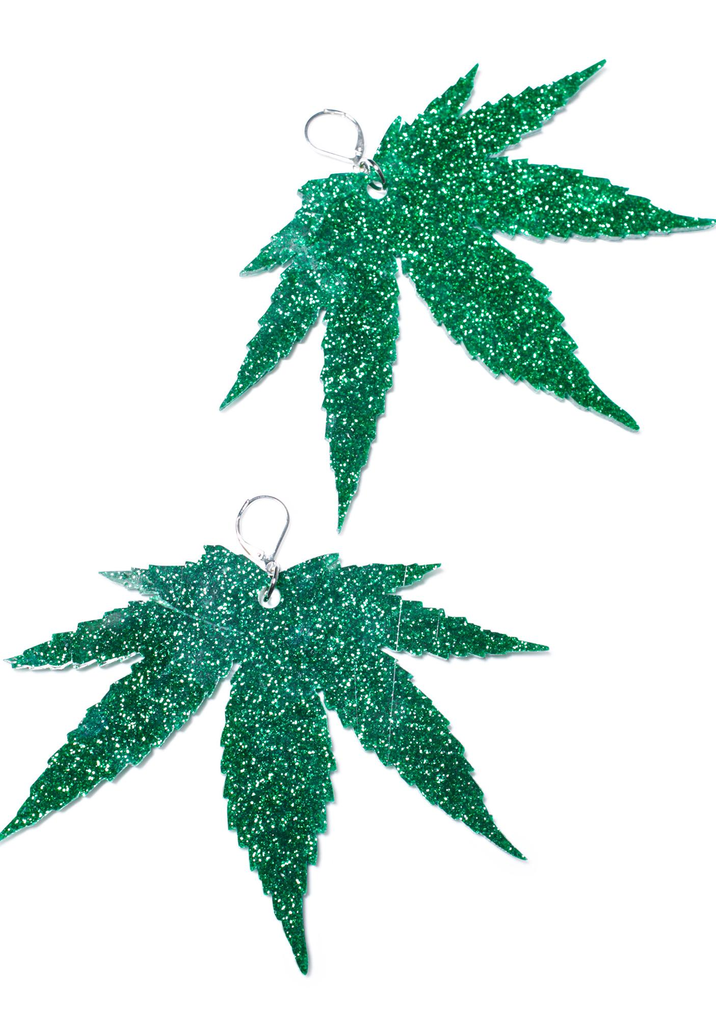 Marina Fini Weed Earrings