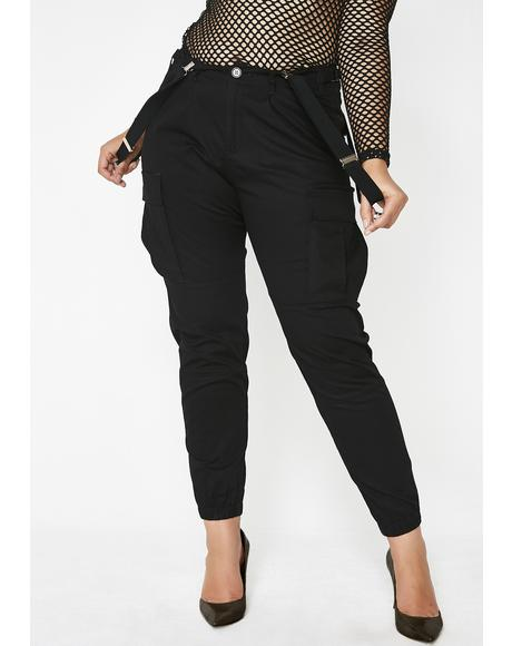 Be The Bizness Suspender Cargo Pants