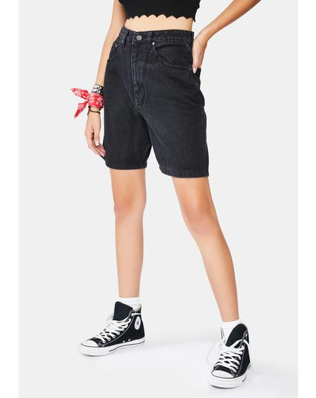 Onyx Dad Denim Shorts