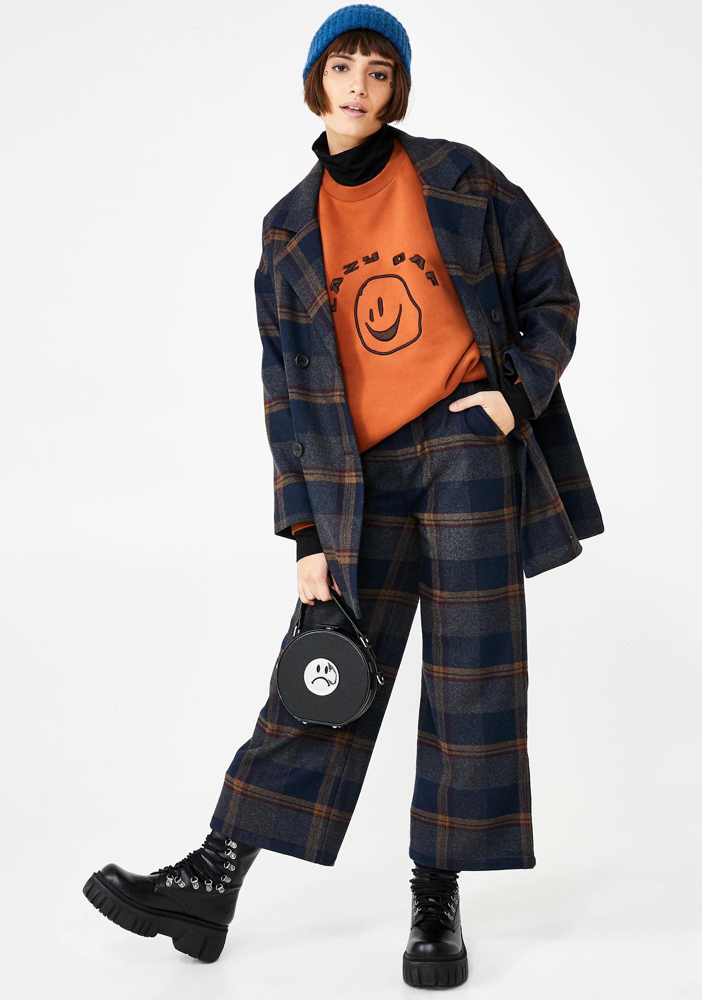 Lazy Oaf Squish Face Layer Sweatshirt