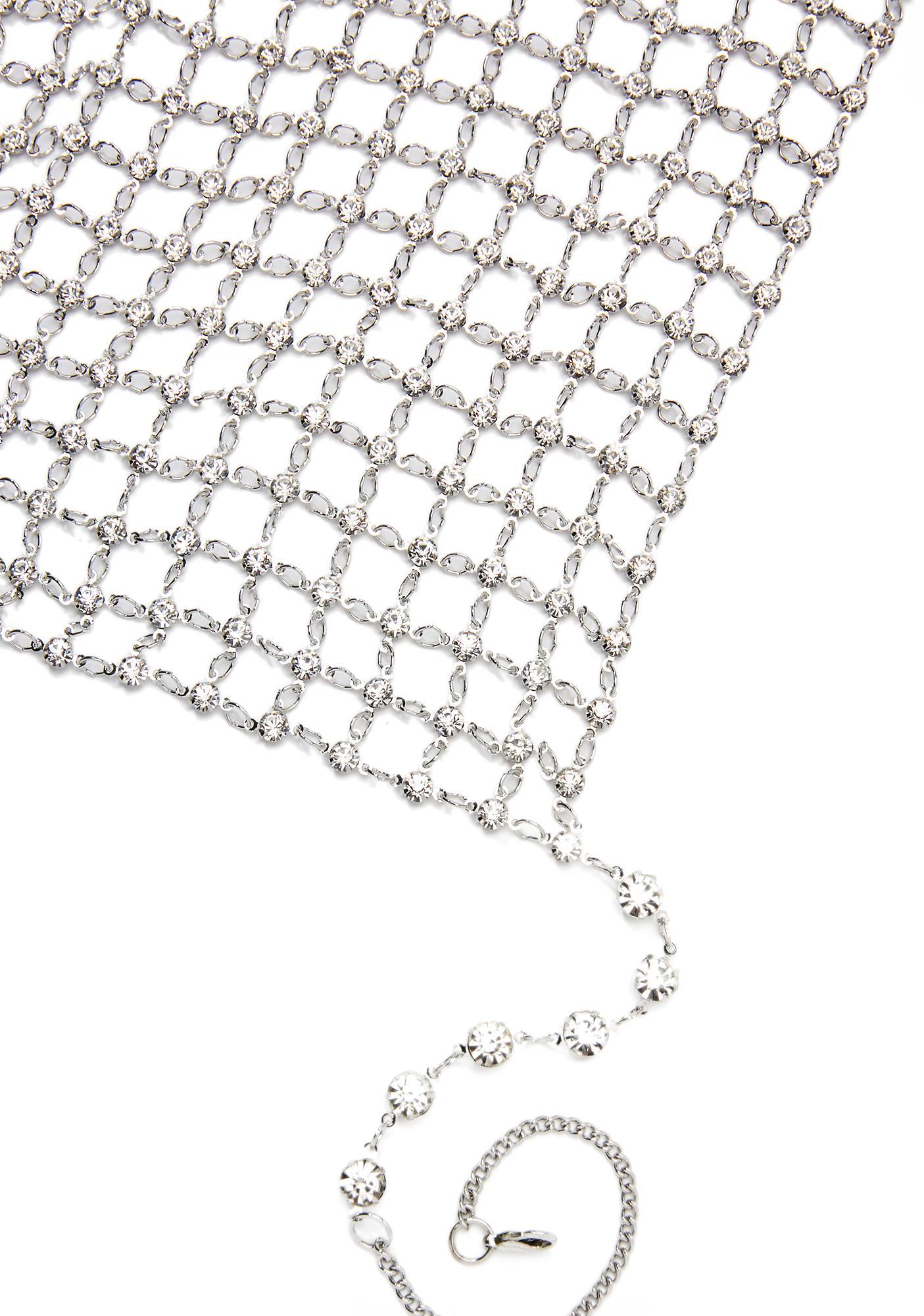 Shimmy Rhinestone Chain Top