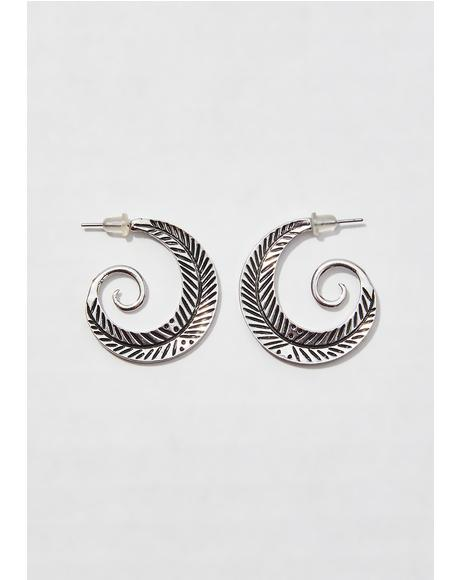 Upward Spiral Earrings