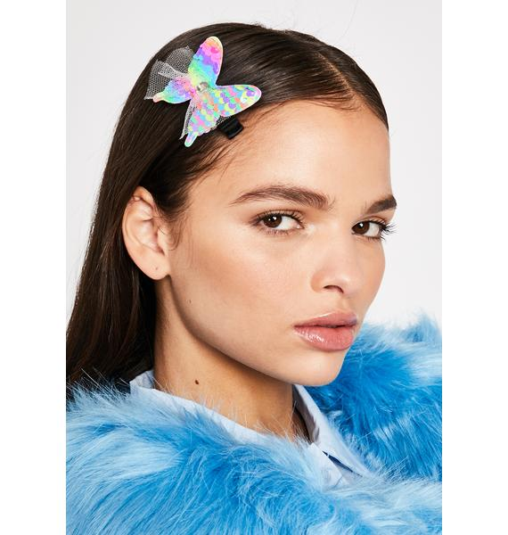 Technicolor Bliss Butterfly Clip