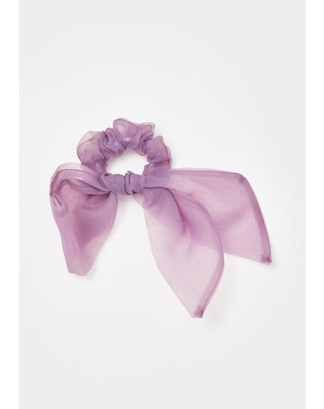 Lilac Can I Call You Bow Scrunchie