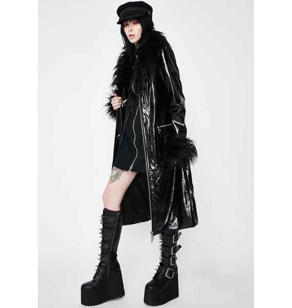 The Ragged Priest Misfit Vegan Leather Coat