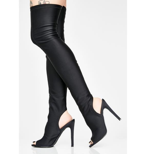 Secret Obsession Knee High Boots