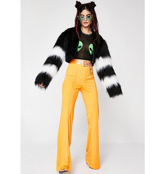 Feast Studio Alien Funky Cropped Fur Jacket