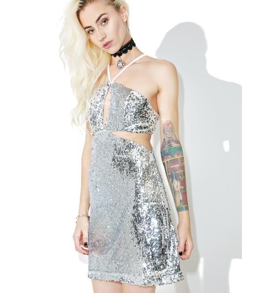 Glamorous Sequin Desire Cut-Out Dress