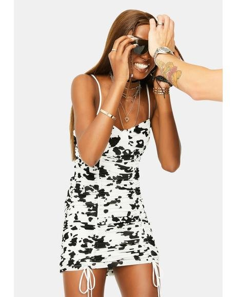 Flock Dalmatian Jemora Mini Dress