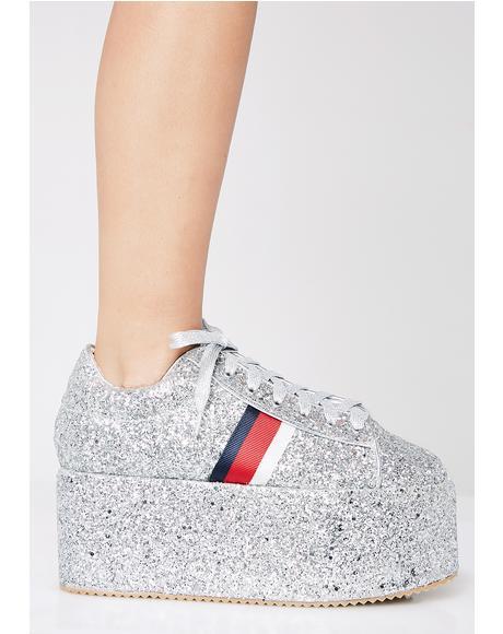 Rising Star Glitter Platform Sneakers