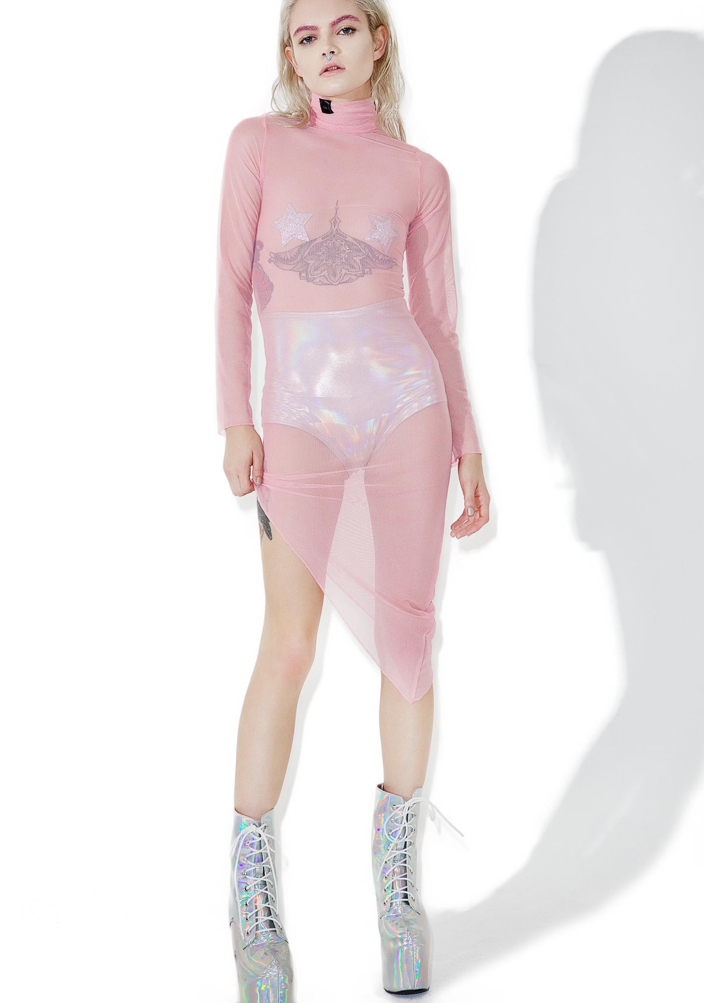 ESQAPE Asymmetric Mesh Dress