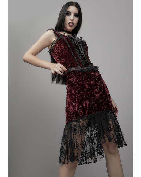Killer In Me Velvet Skirt
