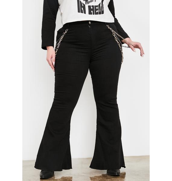 Current Mood Legit Dead End Justice Flared Jeans