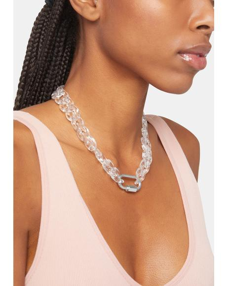 In For It Chunky Chain Lock Necklace