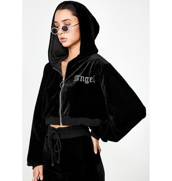 Motel Angel Diamante Velour Jacket